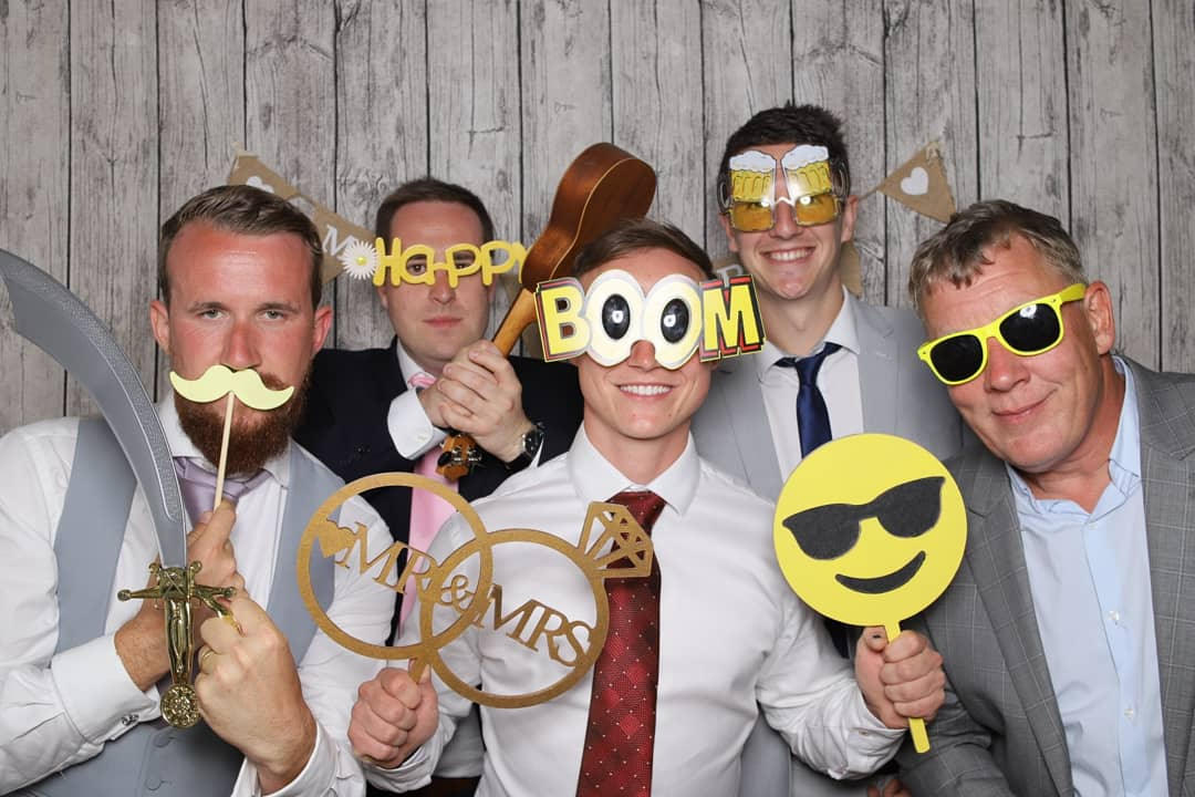 One of our favourite #photobooth snaps from #saturdaynight at the beautiful @Burley_Manor! The guys were loving the #yellow   #Wedding #hampshire #Dorset #weddingideas #weddingvenue