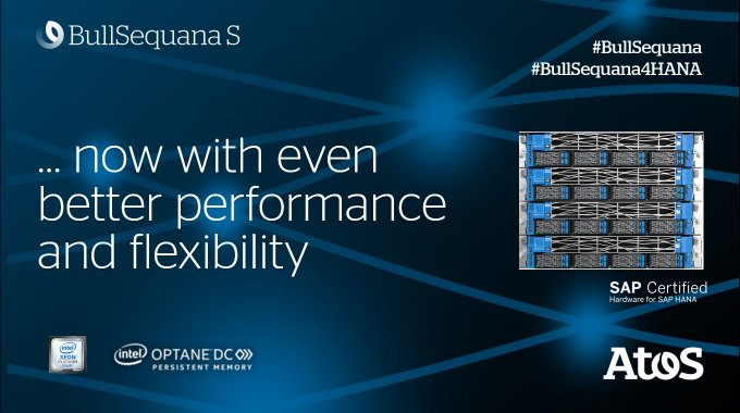 The #BullSequana S800 server, equipped with 2nd gen #XeonScalable processors and #OptaneDC...