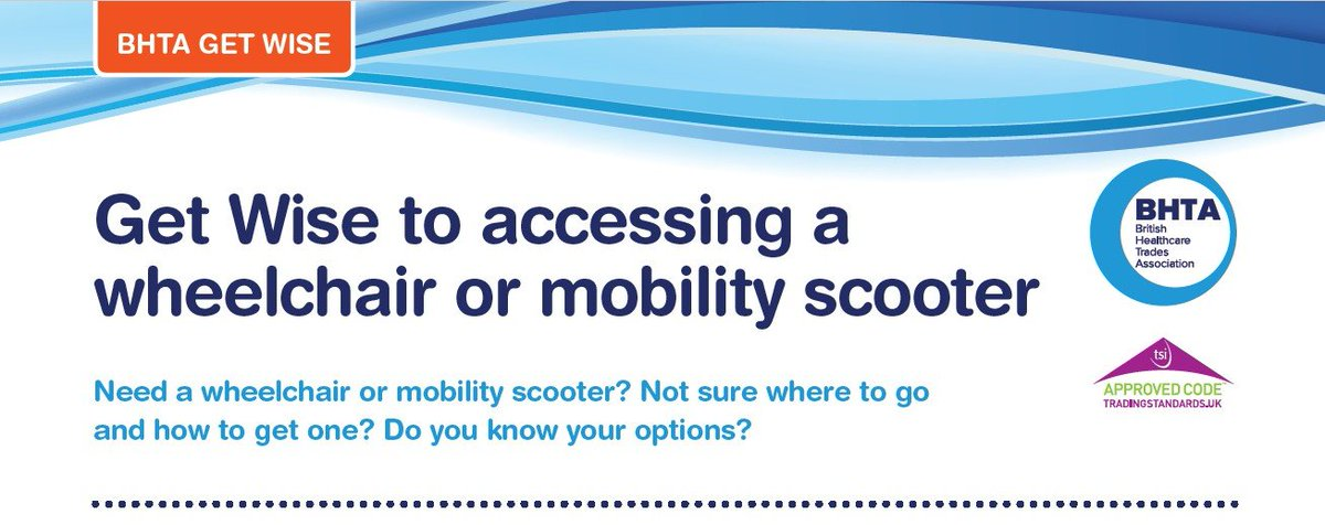 Our New guidance document, Get wise to Accessing a Wheelchair or #Mobility Scooter is here to help if you need a #wheelchair or #mobilityscooter, not sure where to go and how to access one, or just knowing your options. Click here:  http://bit.ly/2Tq0xe8   #Access #independent