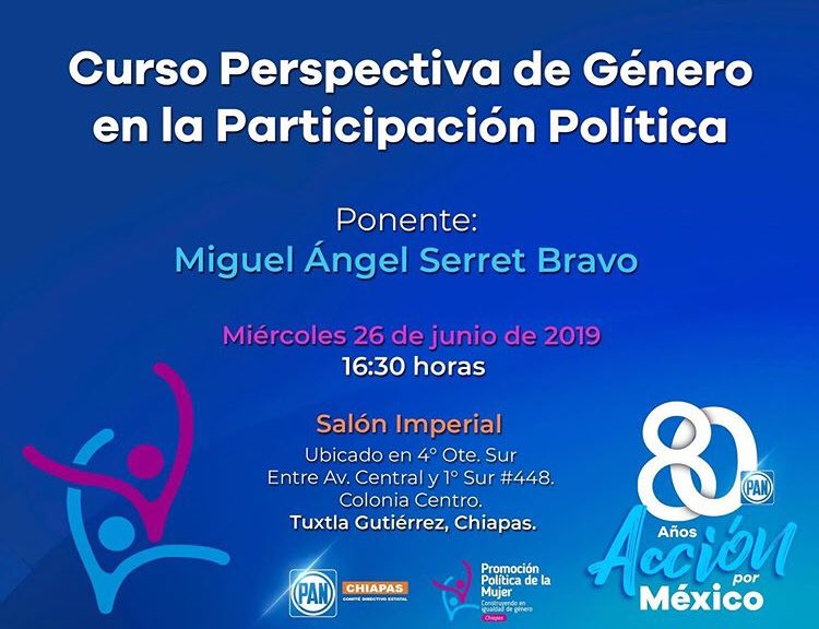 La Secretaria Estatal de Promoción Política de la Mujer @GloriaLuna_Ruiz te invita al curso: 🚺🚹 Perspectiva de Género próximo 26 de junio