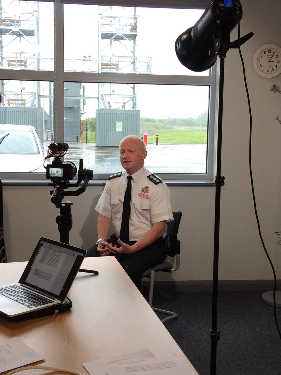 Here's @mredfordDFRS being filmed for @righttrack in the break during an Unconscious Bias training session
