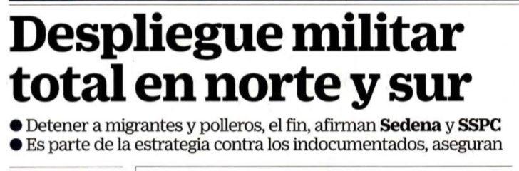 """Primero alentaron la migración centroamericana, ofrecieron visas y trabajo. Hoy por mandato de @realDonaldTrump militares y GN les persiguen en el norte y en el sur. La @SRE_mx debe una amplia explicación al Congreso y a los mexicanos sobre la """"nueva política migratoria""""."""