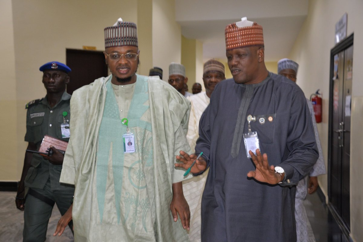 The Director General of #NITDA, @DrIsaPantami with his counterpart from Nigerian Army Resource Centre (NARC), Major General GA Wahab, during the commissioning of the Digital Divide Bridge Centre donated by the Agency. #NITDA19