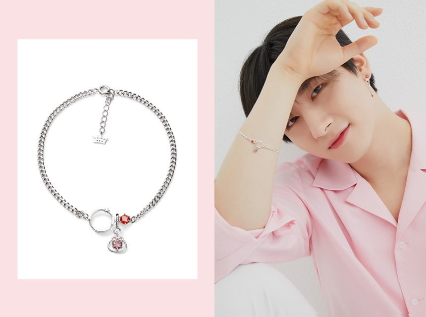 changkyun's silver bracelet:  purple stone - danygom's purple colour  red stone- changkyun's birthstone garnet (january), represents friendship <br>http://pic.twitter.com/5W9zjjqByR