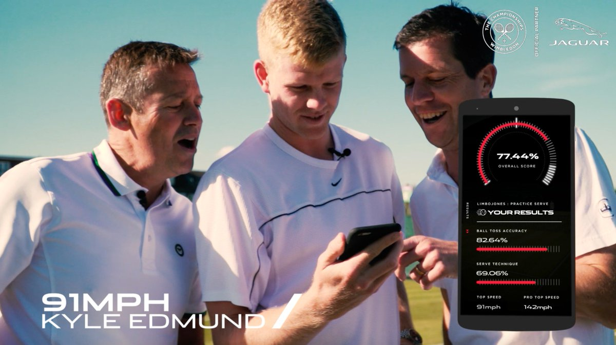 Think you've got what it takes to beat Tim Henman and @kyle8edmund?Download the @JaguarUK Ace Pace app now and put yourself to the test ➡️http://bit.ly/AcePace