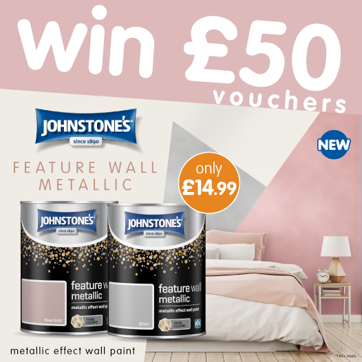 """#COMPETITION TIME   We're celebrating @JohnstonesUK's NEW Metallic feature wall paint by offering you the chance to #WIN £50 worth of B&M vouchers!  For a chance to WIN, simply FLW/RT & COMMENT """"WHICH"""" room in your home needs decorating the most!   Comp ends 4pm 26/6/19<br>http://pic.twitter.com/Ux1mOJYp7u"""
