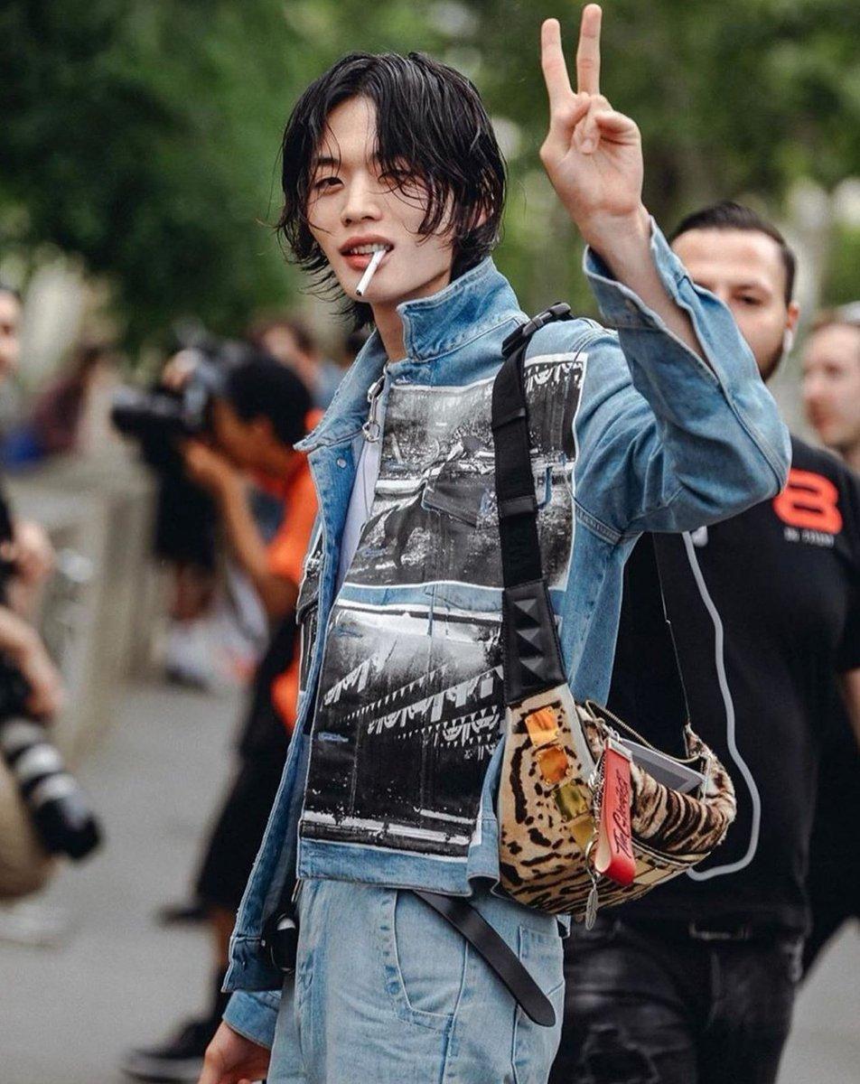 Kim Junsu after Heron Preston fashion show #PFW