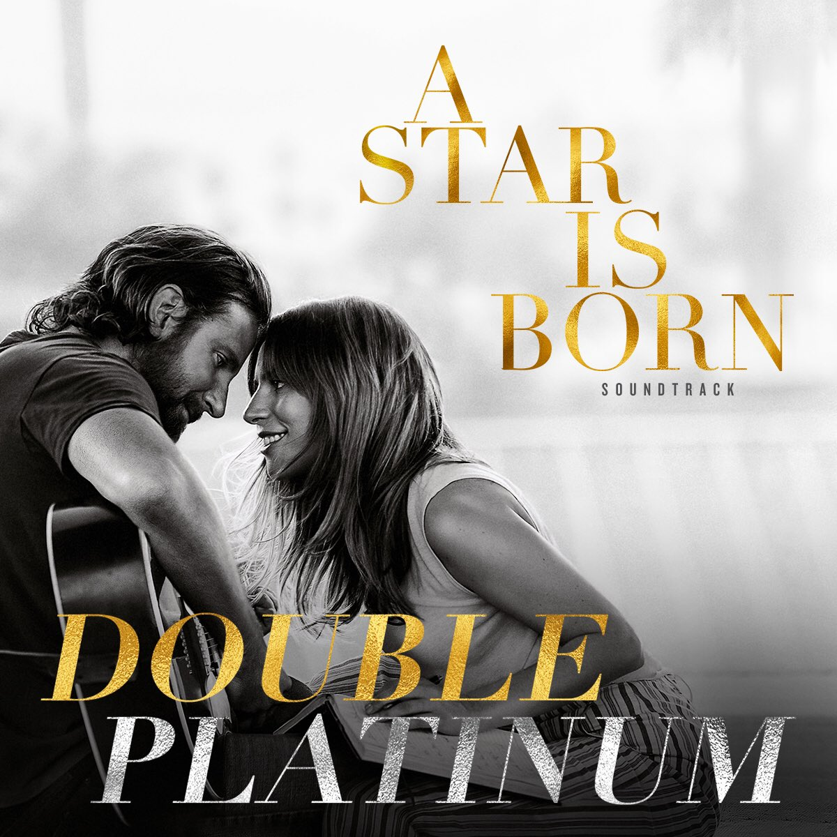 Thank you to all the fans for making the #AStarIsBorn  soundtrack Double Platinum, and the #1  selling album in the US!
