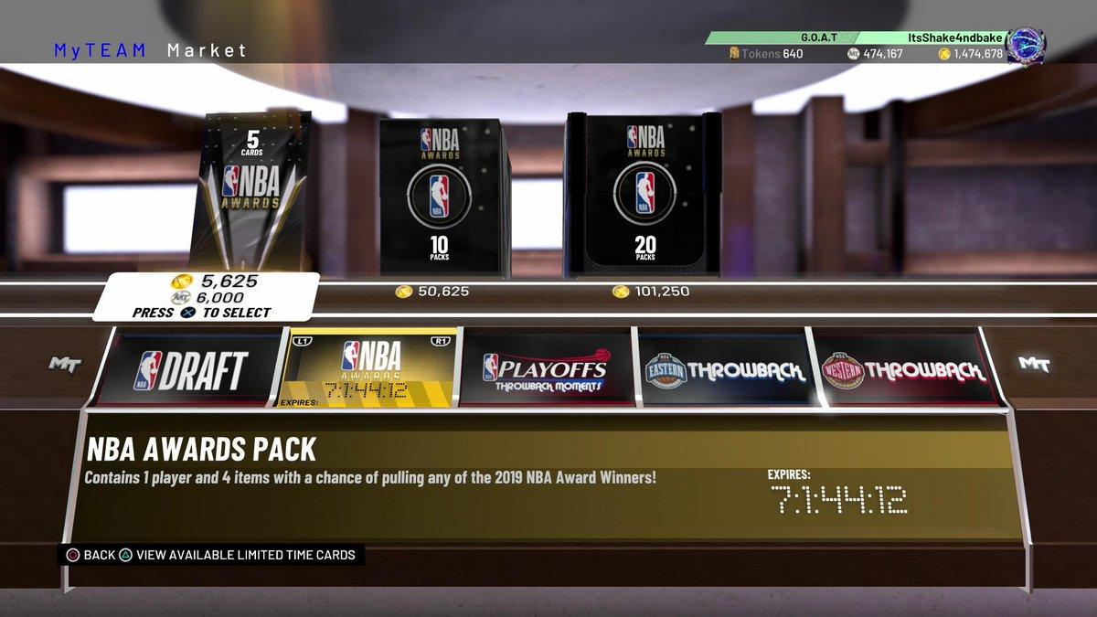 Draft Award Packs are Live....
