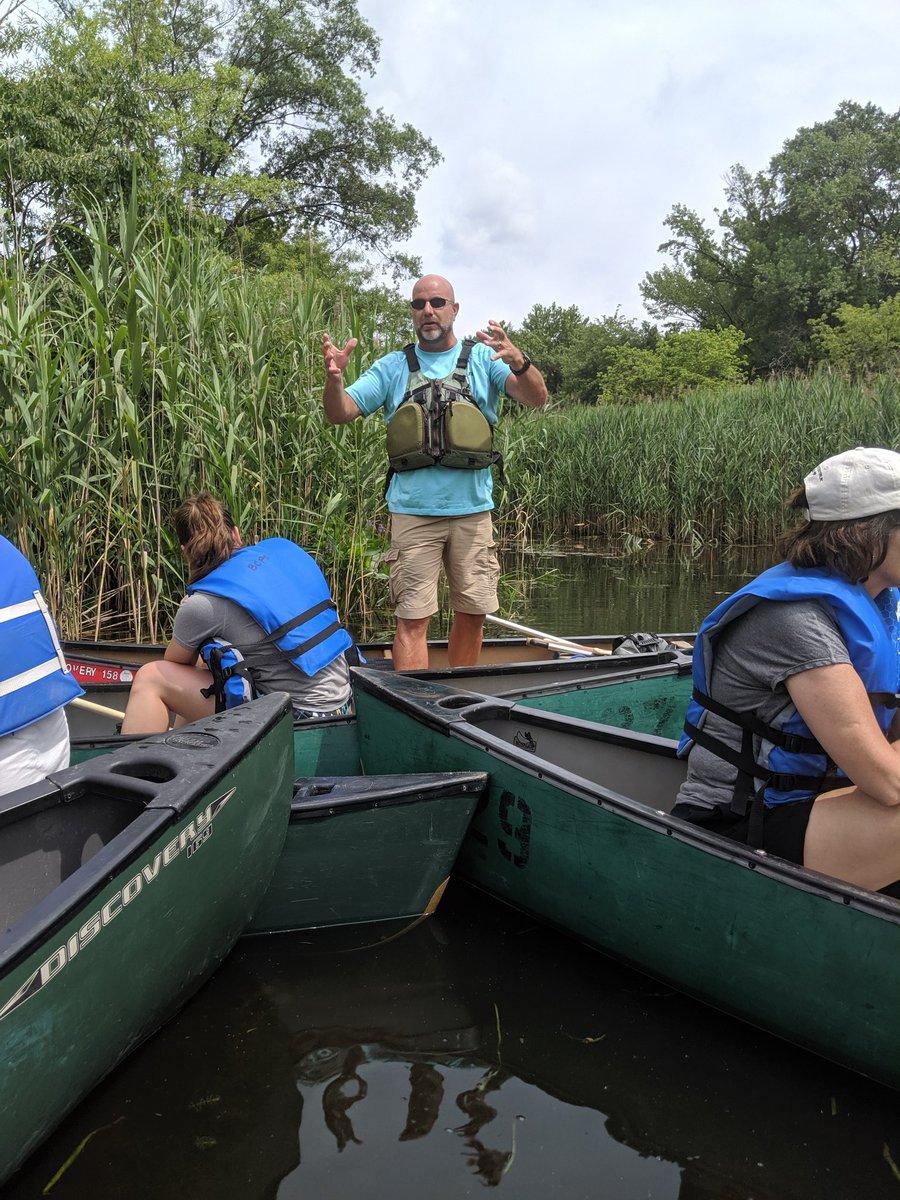 #MWEE day 2 - Dundee Creek #onacanoe #sciencerules #NGSS @BCPSOutdoorSci @CatonsvilleMS