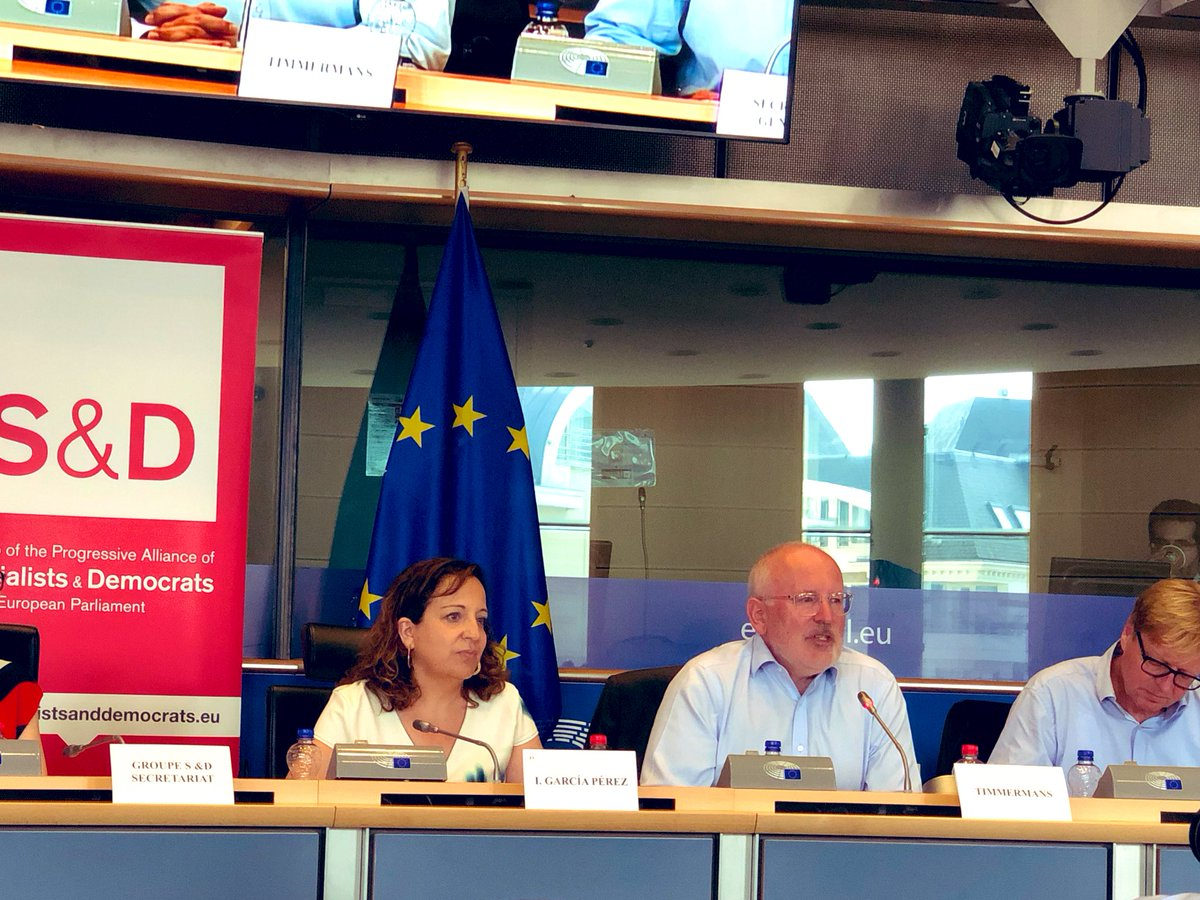 "Great to have @TimmermansEU in our @TheProgressives Group meeting today in Brussels. @IratxeGarper being very clear: ""We stick to the Spitzenkandidaten process and the best candidate to find a majority in this House is Frans Timmermans!"""