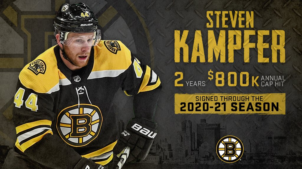 Welcome back Stevie Snipes!! #NHLBruins sign @SteveKampfer47 to 2-year contract extension: bbru.in/2Fxc2wl