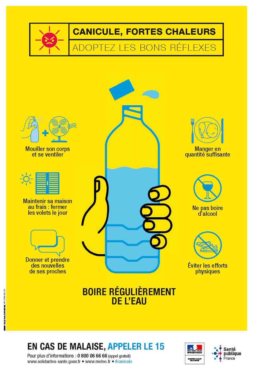 Attention, le département de la #Gironde est placé en #vigilance #canicule Jaune pour les deux jours à venir. N'oubliez pas d'appliquer les règles de #précautions dispensées par le ministère de la Santé Publique ! #Lormont #chaleur #températures #picdechaleur https://t.co/otSVB30l39