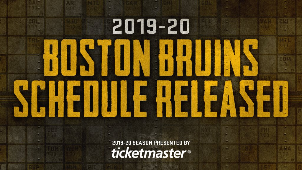 Save the dates! The #NHLBruins 2019-20 schedule has been announced: bbru.in/2X5kOI9 Single-game tickets go on sale Wednesday, June 26 at 2 pm ET