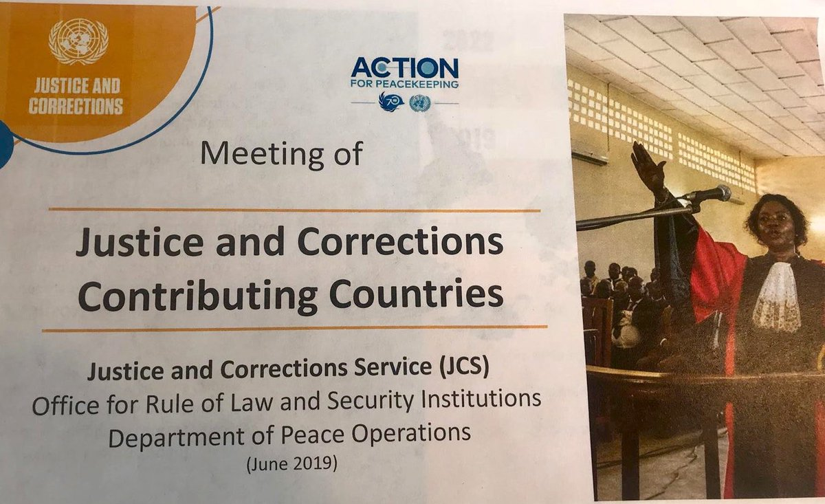 Sweden welcomes today's meeting of #justice and #corrections contributing countries. Important to highlight the entire justice chain, including corrections, prosecution and courts as important part of peace operations' peacebuilding action. #RoL4Peace #OROLSI https://t.co/pqnNPjgki9
