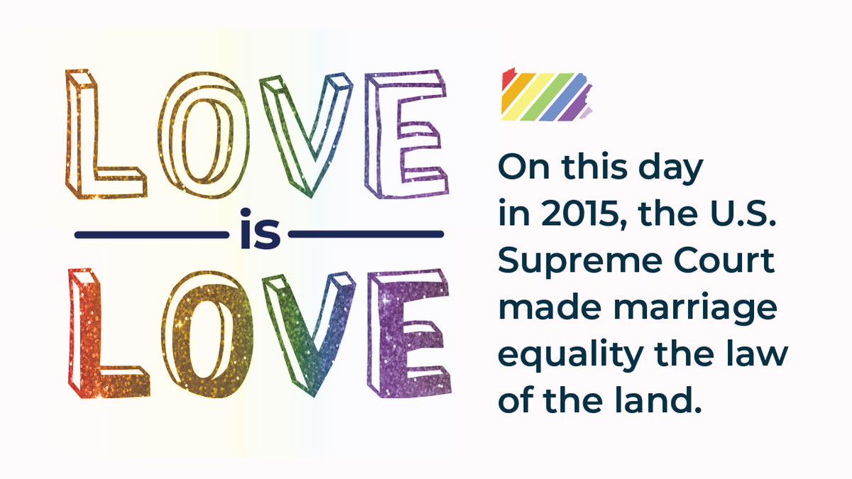 Four years ago today, a landmark #SCOTUS decision legalized marriage equality in the U.S. #loveislove