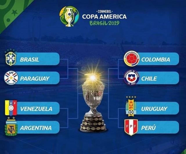 #CopaAmérica2019  | Así quedaron los cruces de cuartos de final