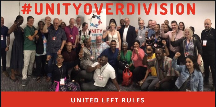 On Day 2 of #UniteRules19 #Uniterules19 we pledged #UnityOverDivision in fighting fascism 'Tackling the far right is an industrial issue' - Paresh Patel, East Midlands Regional Secretary - look out for training, resources & gaining skills to combat fascism in the workplace <br>http://pic.twitter.com/BklNs17X6V
