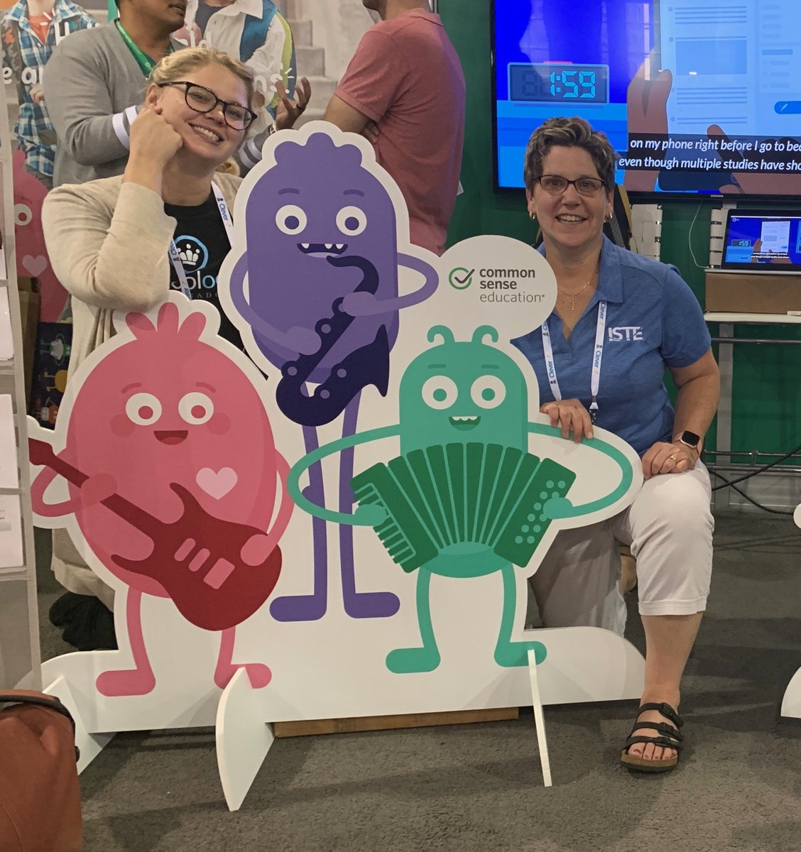 #iste2019 #iste19 Hanging with our friends @CommonSenseEd