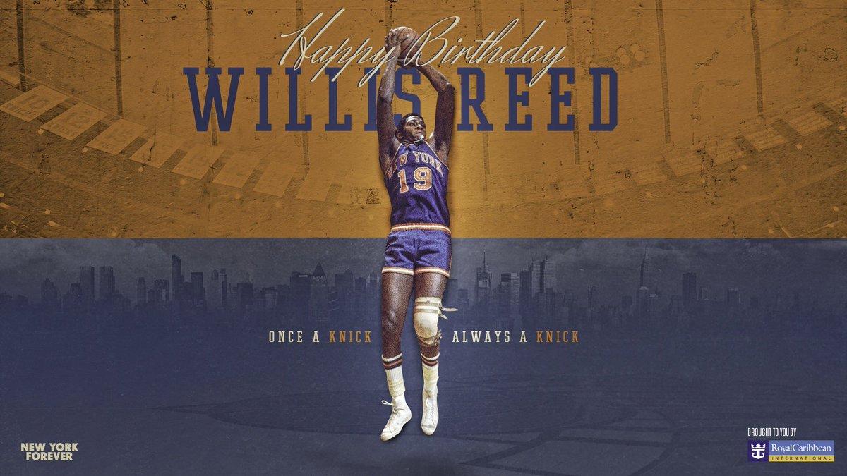 Happy Birthday to the legendary Willis Reed! 🙌🎂🎁