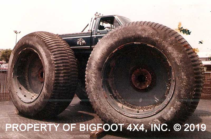 #TuesdayTrivia - What is the name of the company that manufactured the vehicle that these huge 10 foot tall @firestonetires were used on, and what decade they were made in? #bigfootmt #bigfoot4x4 #retro #oldschool #oldskool #monstertrucks #monstertruck #bigfootmonstertruck