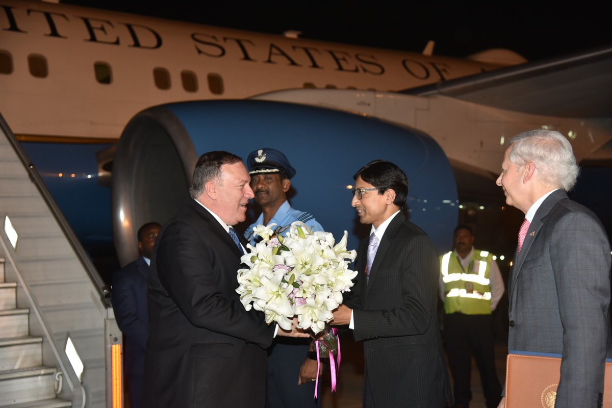 Mike Pompeo in New Delhi, to hold talks with Indian leaders