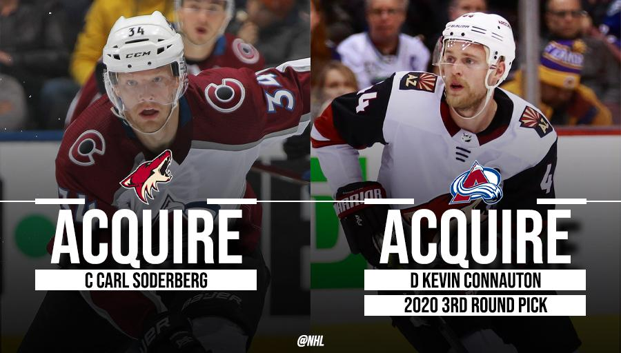 Carl Soderberg is on the move! The @ArizonaCoyotes and @Avalanche get down to business. 🔁
