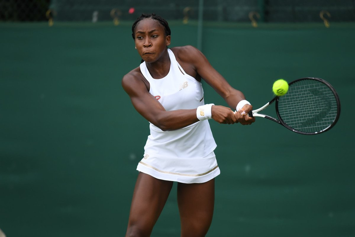 Age is just a number.15-year-old American @CocoGauff beats the No.1 seed Aliona Bolsova 6-3, 6-4 to progress to the second round of #Wimbledon Qualifying
