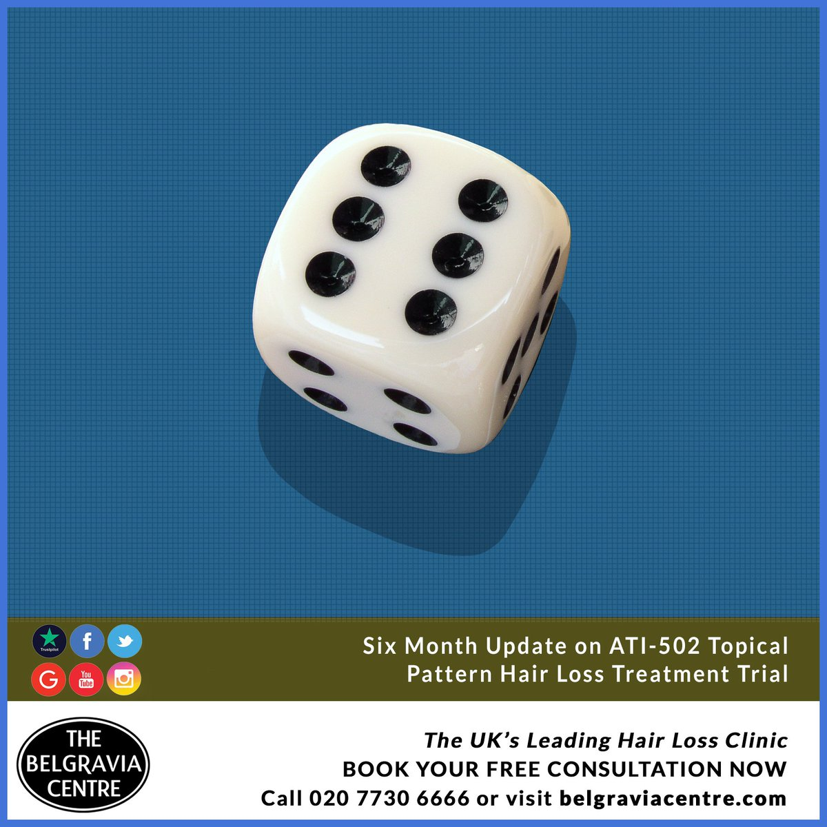 Six Month, Clinical Trial Mid-Point Update on ATI-502 Topical Male & Female Pattern Hair Loss Treatment: http://bit.ly/ATI-502PatternHairLossTreatmentUpdate … #hairloss #hairgrowth #belgraviacentre #ATI502 #hairlosstreatment #malepatternbaldness #femalepatternhairloss #hairlosssolution #hairregrowth #trial