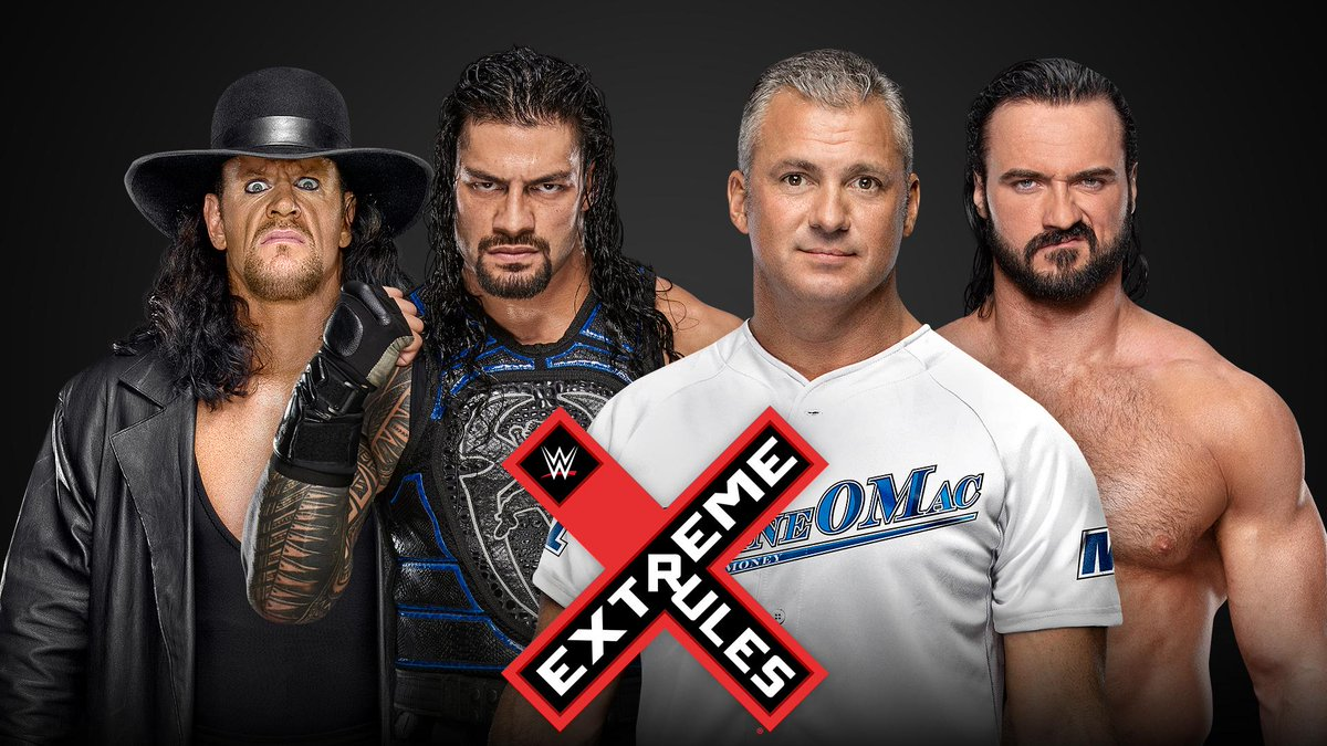 The #Undertaker and @WWERomanReigns will unite for the very first time to hold down the yard against @shanemcmahon & @DMcIntyreWWE at #ExtremeRules! http://wwe.me/OK1WDK