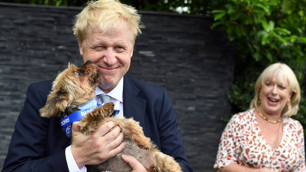 Image result for Boris Johnson and dog