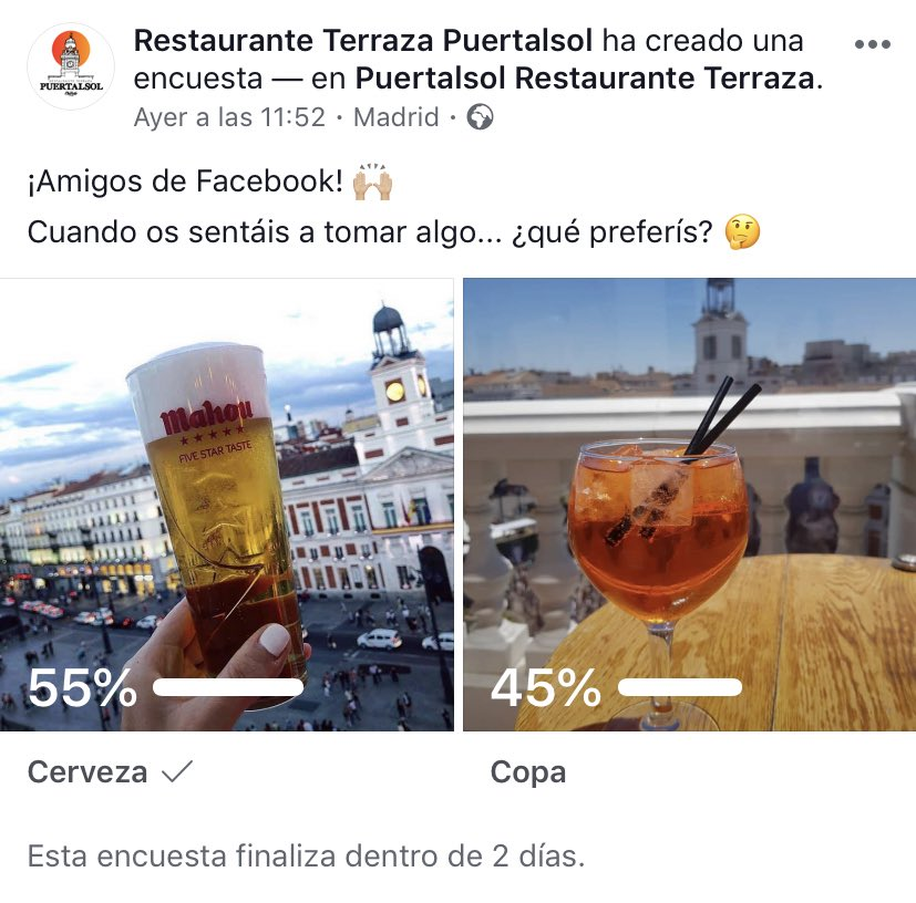 Pásate por nuestro #Facebook y participa en nuestra encuesta 📊 ¿Tú qué prefieres? 🤔