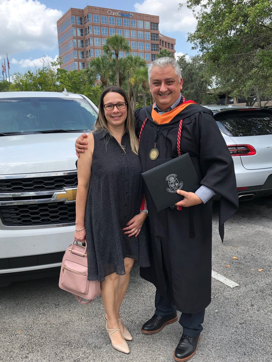 To think that this man's first job in the US back in '05 was making mattresses knowing 0 English. Today he received his NP degree. I'm beyond proud of you Dad, anything is possible. <br>http://pic.twitter.com/lxv8Sj0HS2
