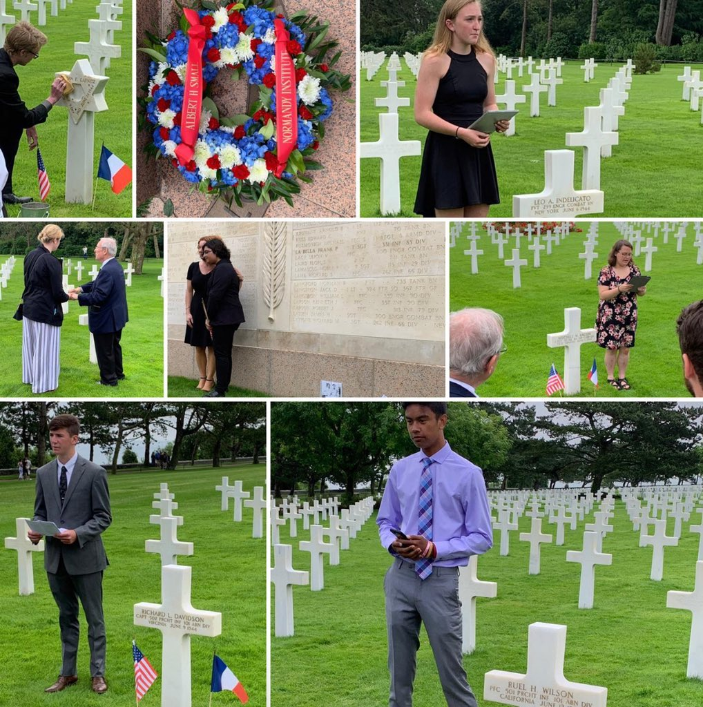 Students delivered their eulogies as part of the Albert H. Small Normandy Institute today.  Kudos to Upper Merion senior, Noor Bukhari, for doing such an impressive job.  An emotional day indeed.  #DDay75 #DDay #Normandy @UpperMerionSD
