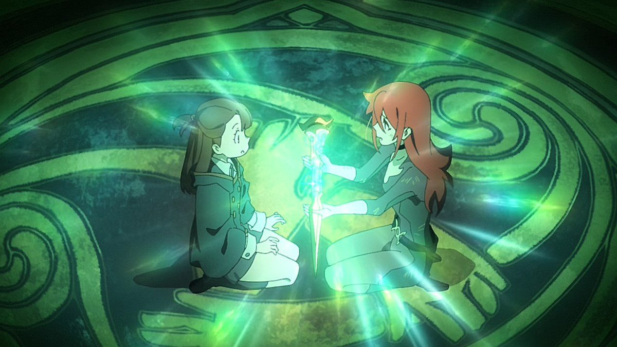 Akko (being given a gift!)  Happy birthday to the witch who me and so much to us all! <br>http://pic.twitter.com/vQFrLIYX33