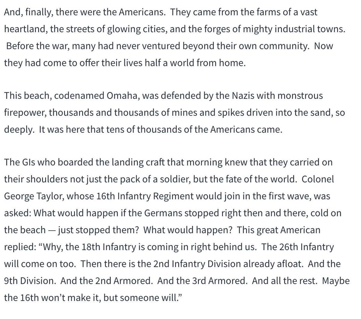 Die van Trump dit jaar was overigens ook niet slecht. Maar weinig van meegekregen eigenlijk. #DDay https://www.whitehouse.gov/briefings-statements/remarks-president-trump-75th-commemoration-d-day/…