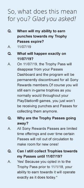 Wow This program is going away! Why Sony why?? @Wario64 @PS4_Trophies @PlayStation #sonyrewards #trophies #playstation