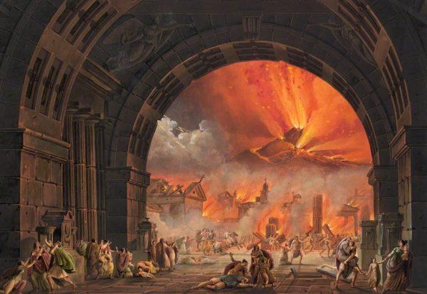 Today 79AD Mt Vesuvius erupts, buries Roman Pompeii and Herculaneum, 15,000 die