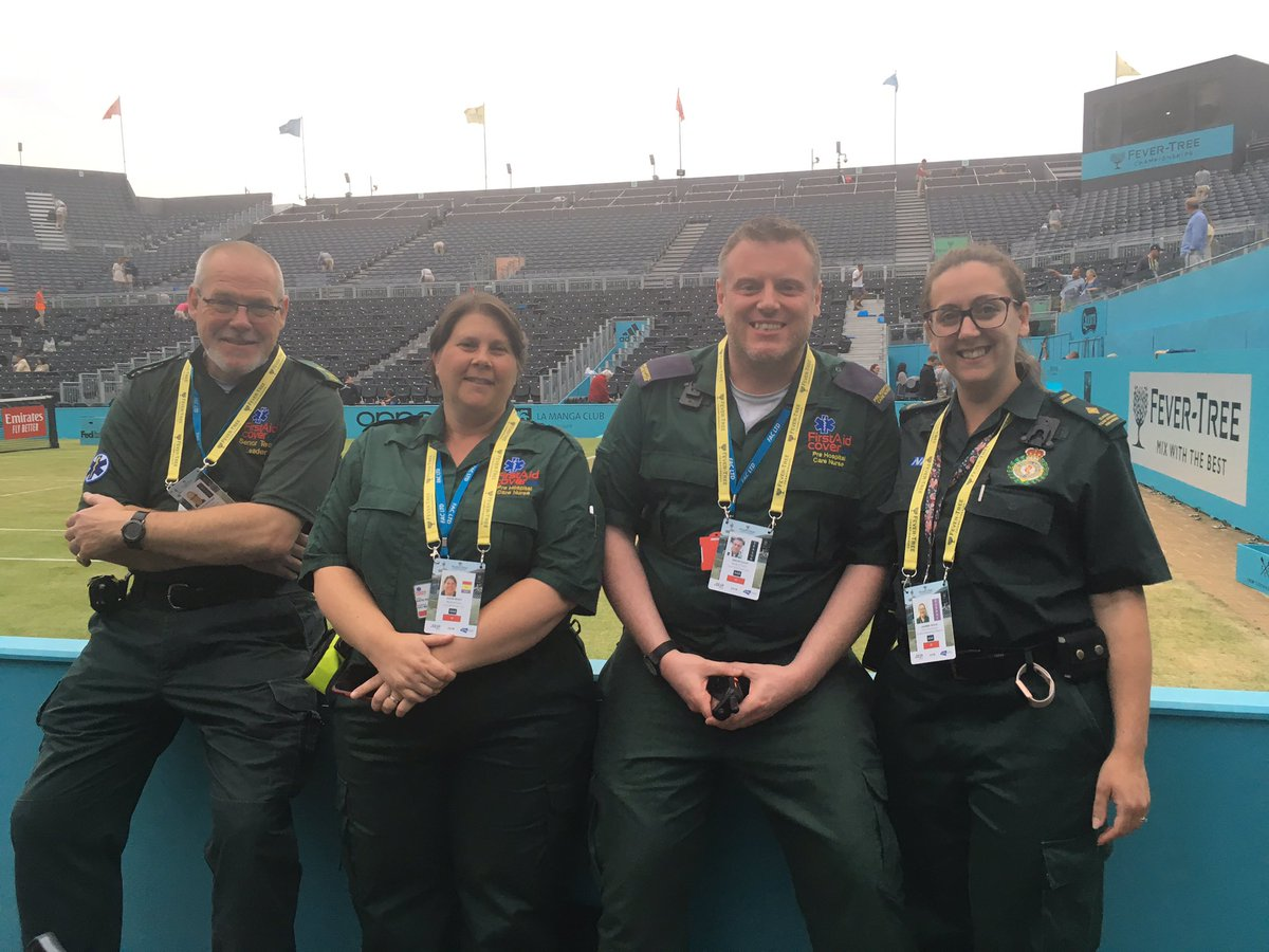 Really enjoyed covering the #FeverTreeChampionships last week with team @FACLTD   Such an amazing #event to be part of  Proud   #FirstAid #FirstAidCover #Nurse #NurseCommunity @Paramedic #ParamedicCommunity #Tennis #QueensClub  @the_LTA @QueensTennis @LAS_TacAdvisor<br>http://pic.twitter.com/L66FKGLixN