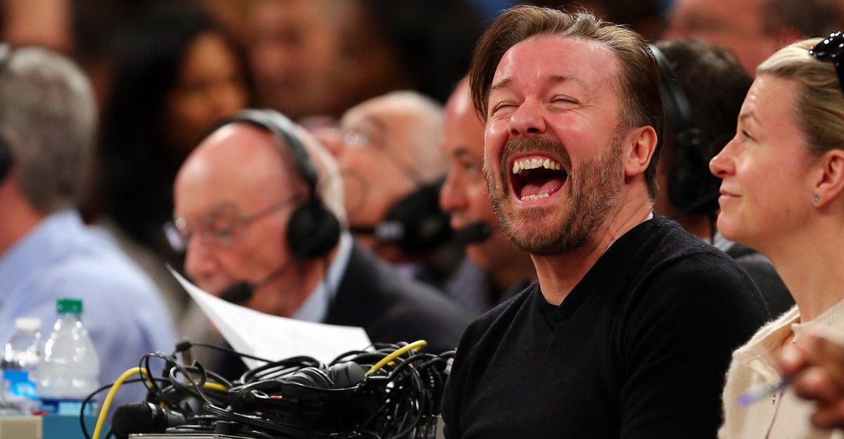 """Happy birthday to the man who created:   The Office  Extras  An Idiot Abroad  Derek  After Life   """"I'm a friend first, and a boss second, probably an entertainer third.""""   Ricky Gervais, a comedy genius. <br>http://pic.twitter.com/zaUHtnita5"""