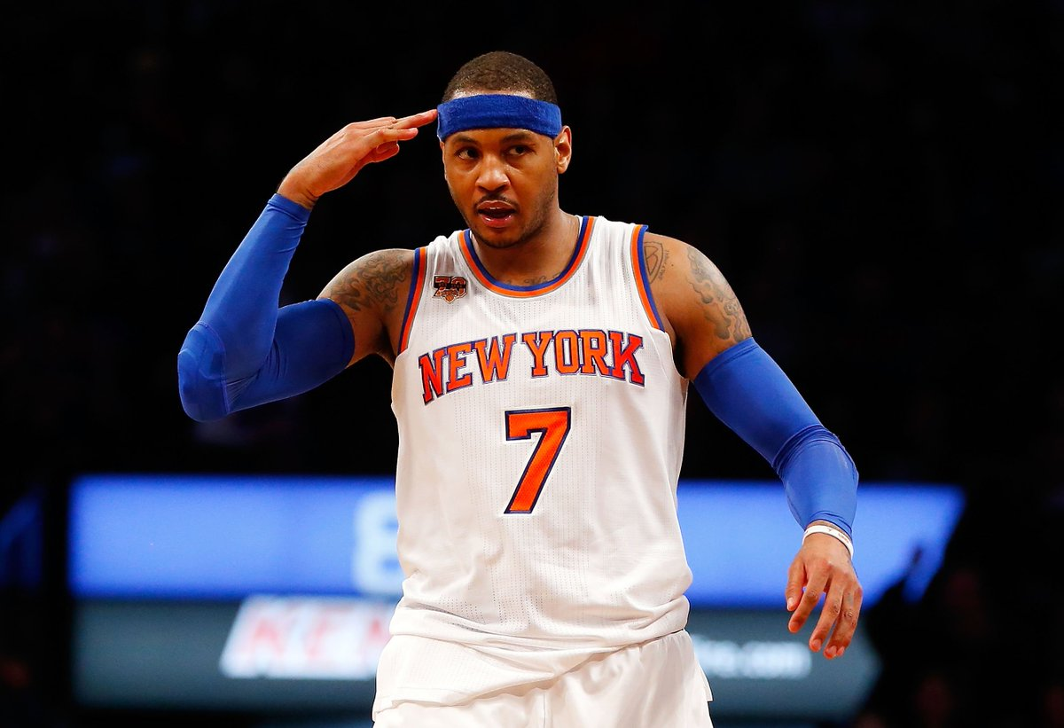 """Carmelo Anthony would have interest in finishing career with Knicks; Melo is """"not currently part of the team's thinking,"""" per @IanBegley"""