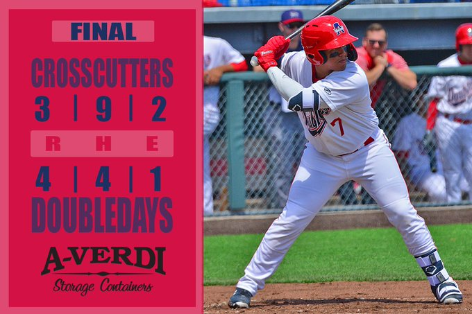 Doubledays hold off Williamsport for first win of summer at Falcon Park