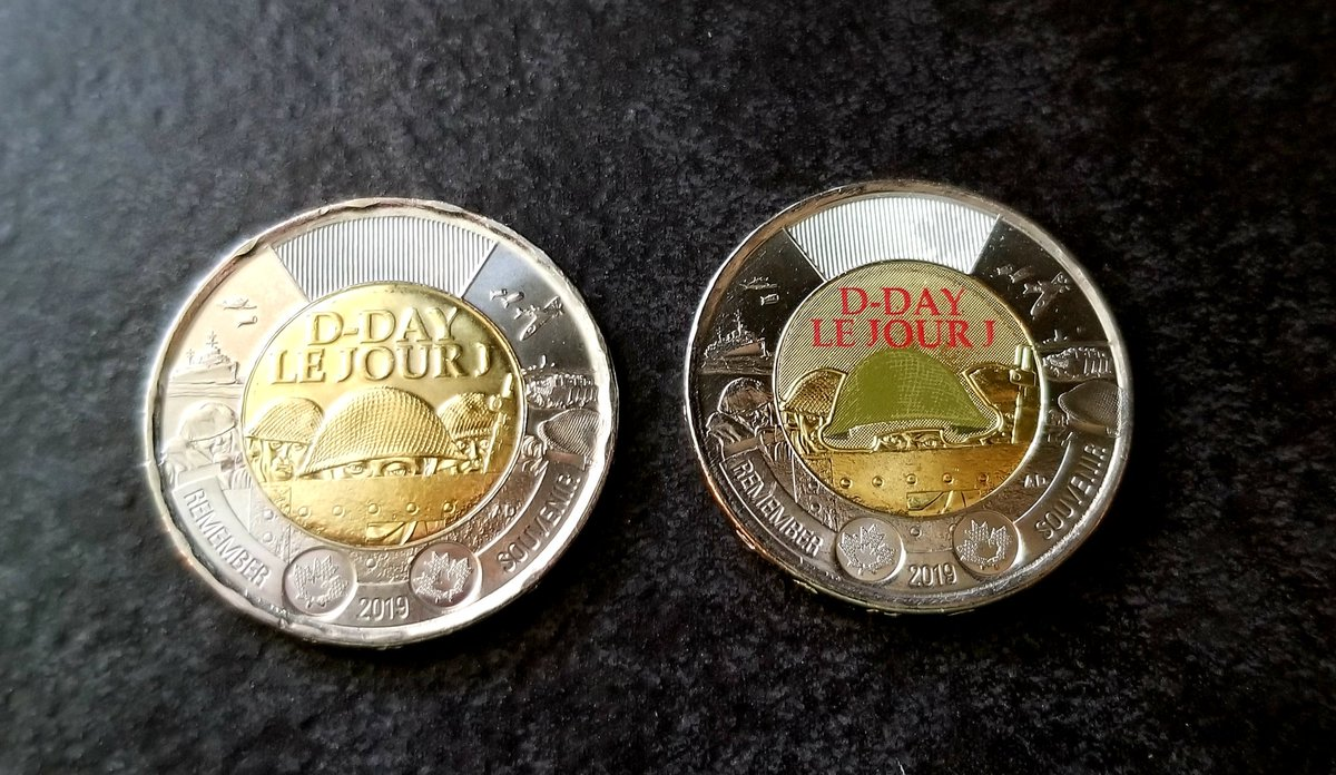 Love these commemorative #DDay Canadian Toonies 🍁 @CanadianMint