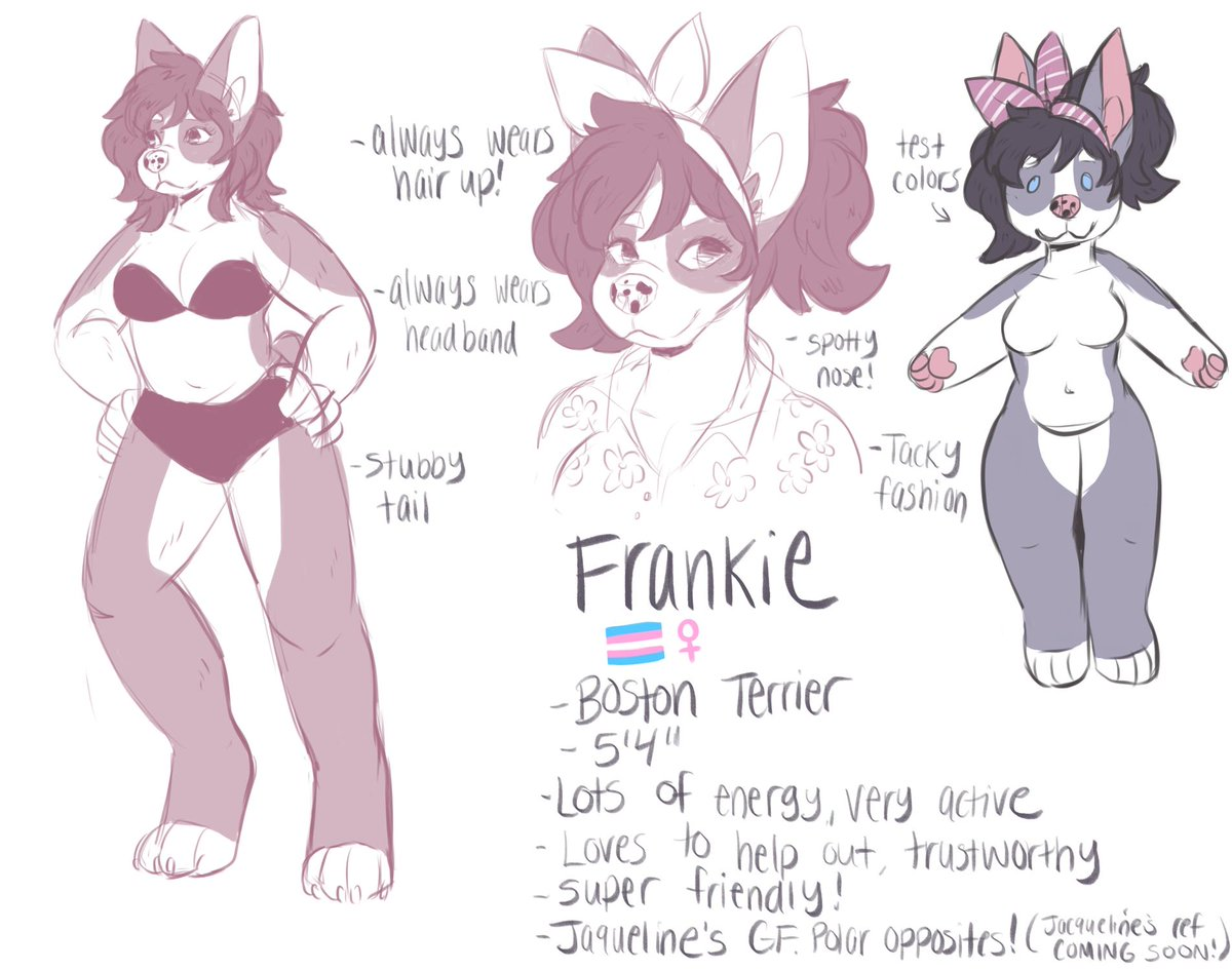 quick sketchy ref of one of my characters, frankie! i designed her a few years ago and revamped her a little bit. i have a few characters i want to revamp and start drawing again!  #furry #furryart #furries #furryfandom <br>http://pic.twitter.com/PzVSnGKNSB