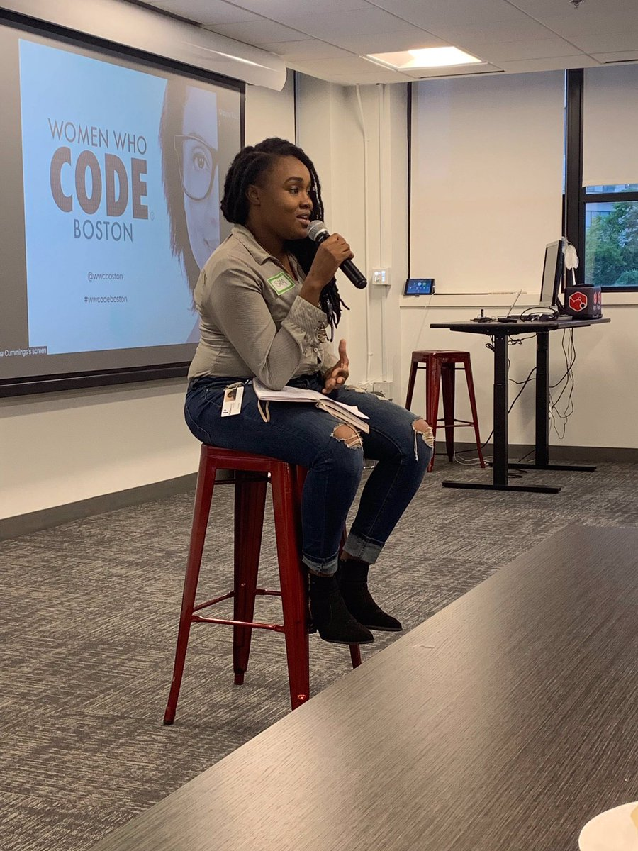 Tonight I facilitated my first tech talk at PathAI. It was so much fun and a delight to be there, thank you for having me @wwcboston! .<br>http://pic.twitter.com/j71DRa48zK