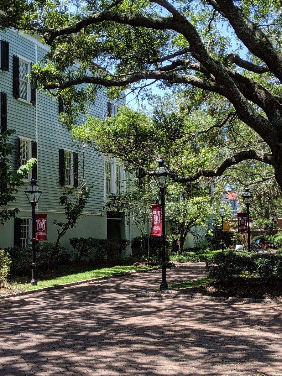 Made first college tour today w/ Patrick to @CofC  It's a beautiful place in downtown Charleston Can't believe I'm looking at colleges with my youngest!