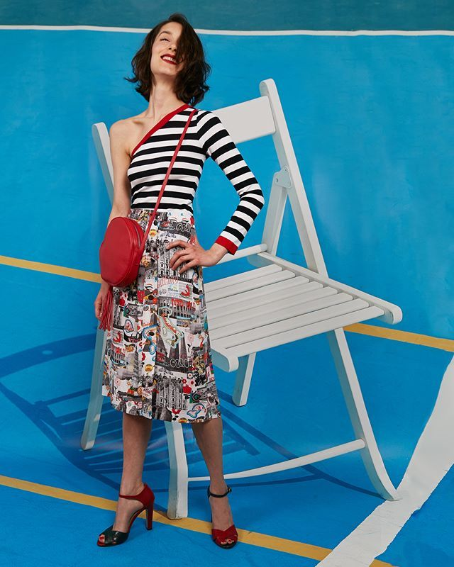 THE BEST IS YET TO COME 🌈 👉Now You Can Place Your Order via WhatsApp +39 349 269 3393⚡ More Info ✏💌 ecommerce@waitandsee.it 🌎Worldwide Shipping #WhatsAppAndSee #StripedTop #MidiSkirt #Sandals #RedBag More on http://bit.ly/14OLMC8 #waitandseemilan