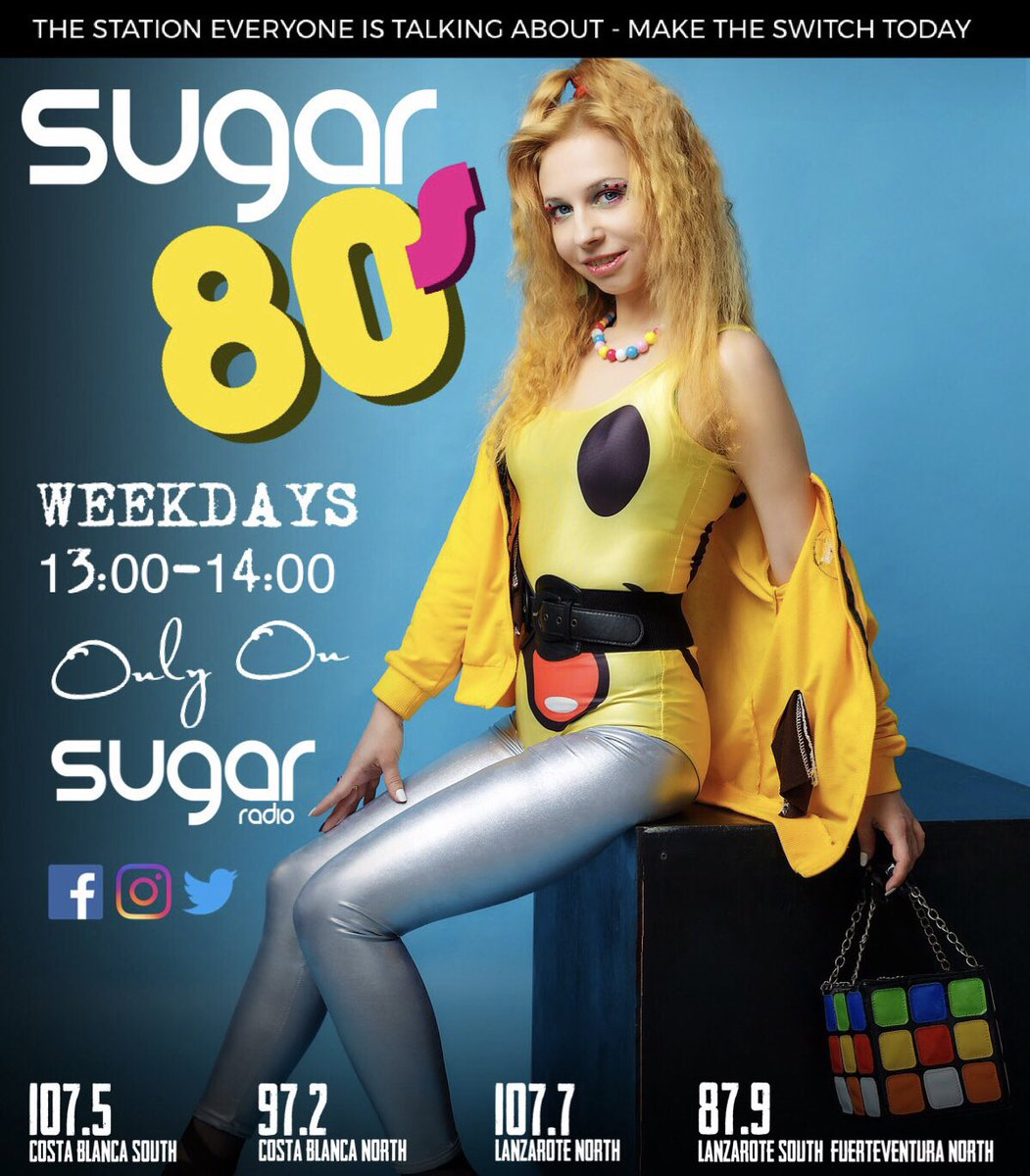 Do you #Love80s then join us on #SugarRadio for #Sugar80s #Weekdays 13:00 till 14:00 for #60Minutes of the #Best #Hits from the #80s #Flashback #TurnItUp #WeAreSugar and #WeKnowOurStuff when it's comes to #Music http://www.sugar-radio.fm