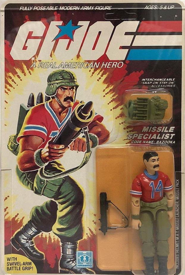 Missile Specialist. Code Name: BAZOOKA. First appeared on toy store shelves in 1985. <br>http://pic.twitter.com/lIYR4U3aEr