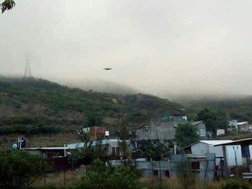 Immagine di un UFO in Messico su Twitter